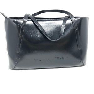 FRANCESCO BIASIA black leather purse, Italy